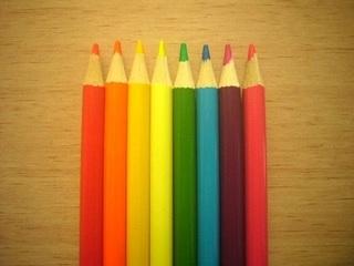 ダイソー蛍光色鉛筆