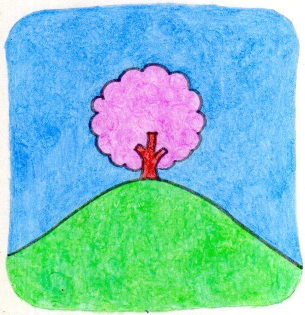 山の上の一本桜