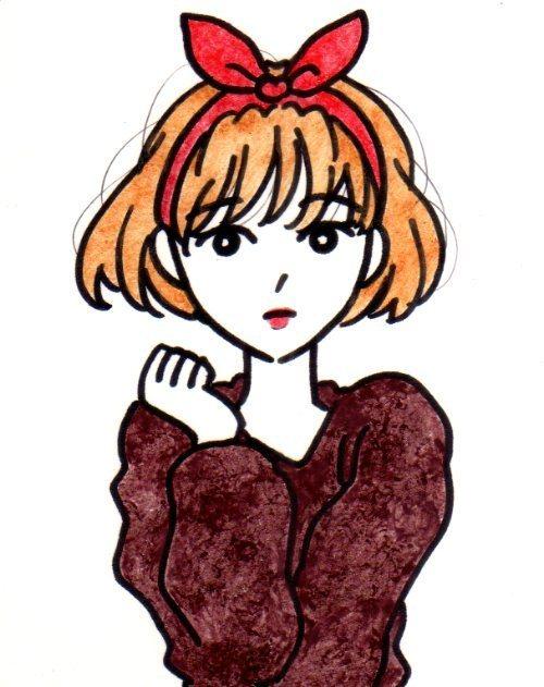 ブラウンのセーター
