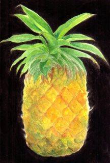 お盆のパイナップル